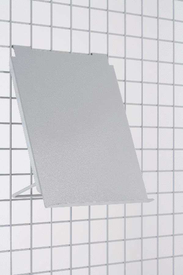 pr sentoir livres pour grille d 39 exposition monaco et iso gris alu. Black Bedroom Furniture Sets. Home Design Ideas