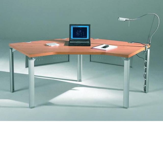 bureau compact 120 sym trique epure 120x120x80. Black Bedroom Furniture Sets. Home Design Ideas