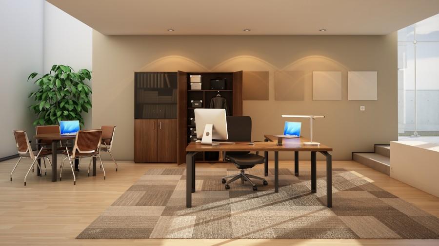 bureau droit placage bois epure manager 180x80 avec retour 100x60. Black Bedroom Furniture Sets. Home Design Ideas