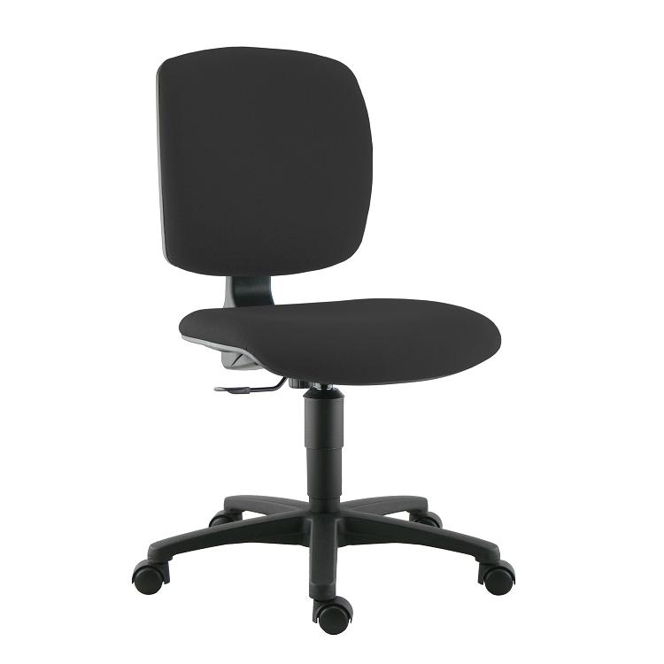 chaise de bureau klimo tissu noir panth re 009. Black Bedroom Furniture Sets. Home Design Ideas