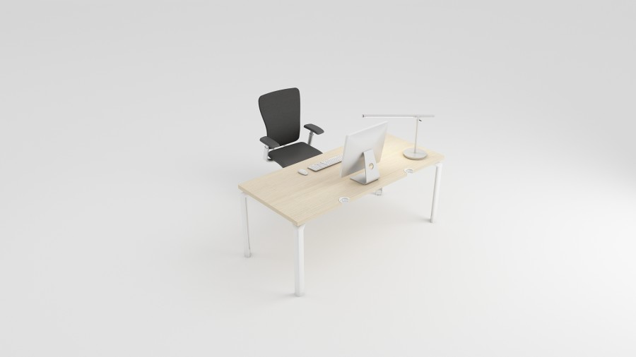 bureau droit epure 140x80. Black Bedroom Furniture Sets. Home Design Ideas