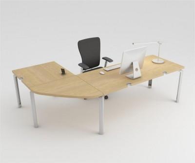 bureau droit epure 140x80 avec angle 90 et retour 80x80. Black Bedroom Furniture Sets. Home Design Ideas