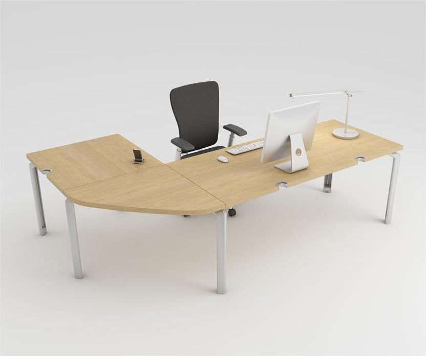 bureau droit epure 180x80 avec angle 90 et retour 80x80. Black Bedroom Furniture Sets. Home Design Ideas