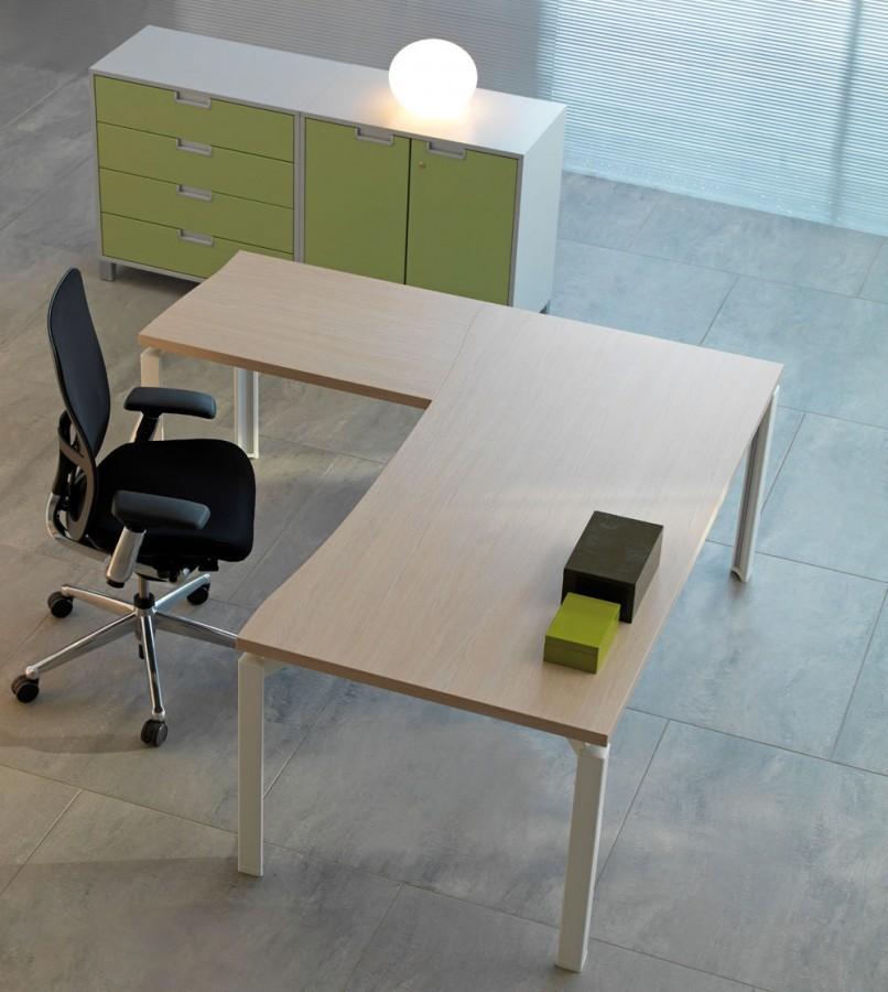 bureau droit ergonomique epure 160x100. Black Bedroom Furniture Sets. Home Design Ideas
