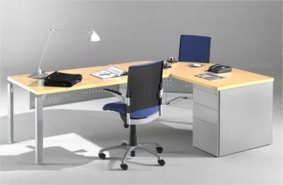 bureau droit epure 140x80 avec angle 90 et retour 80x80 sur caisson. Black Bedroom Furniture Sets. Home Design Ideas