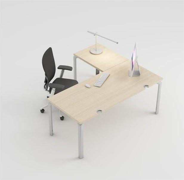 bureau droit epure 180x80 avec retour 60x60. Black Bedroom Furniture Sets. Home Design Ideas
