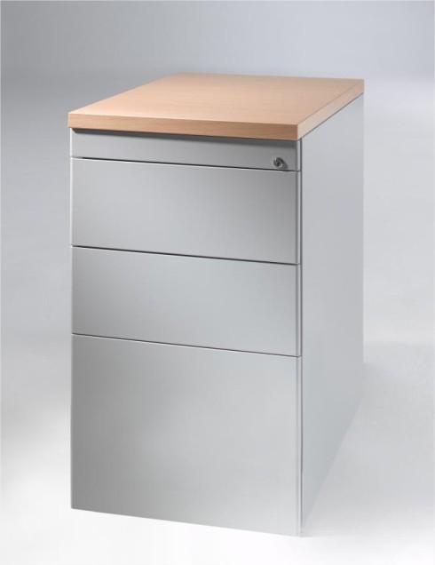 caisson hauteur bureau m tallique epure 2 tiroirs plats 1 tiroir dossiers suspendus. Black Bedroom Furniture Sets. Home Design Ideas