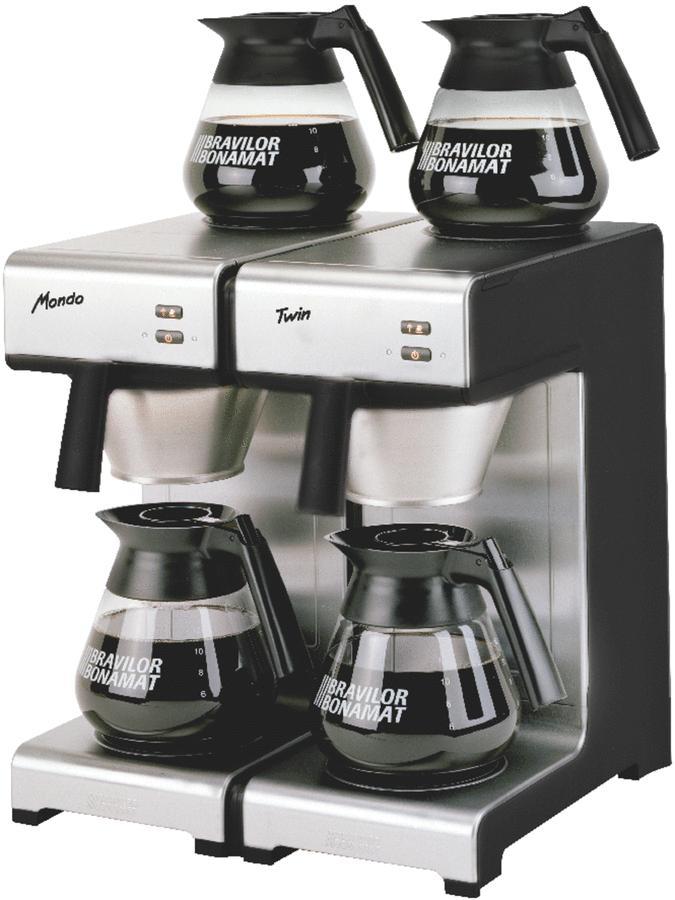 machine caf mondo twin 28 l h porte filtre inox. Black Bedroom Furniture Sets. Home Design Ideas