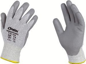 Lot de 10 paires de gants anti coupure enduction pu tricot dyneema gris enduit pu gris - Gant anti coupure ...