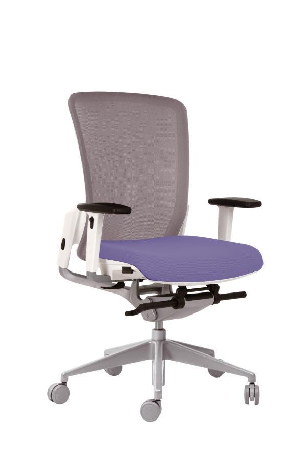 fauteuil de bureau e6 assise tissu dossier r sille pi tement finition epoxy. Black Bedroom Furniture Sets. Home Design Ideas