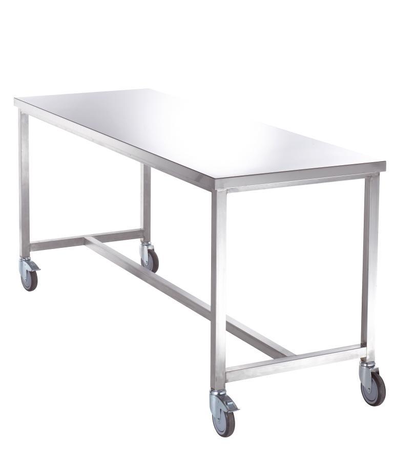 table de pliage inox 1 plateau sur roulettes. Black Bedroom Furniture Sets. Home Design Ideas