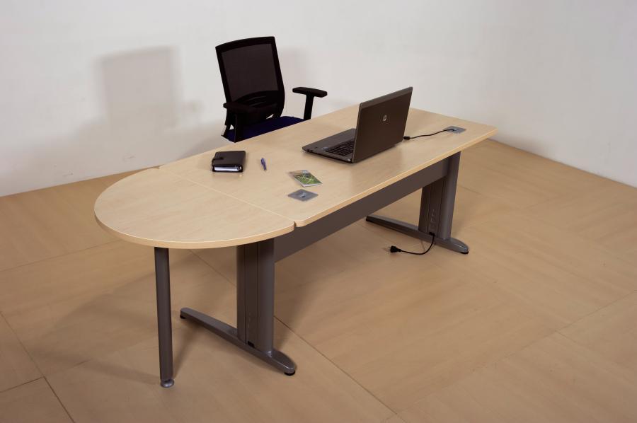 bureau droit corial 120x80 avec convivialit lat rale. Black Bedroom Furniture Sets. Home Design Ideas