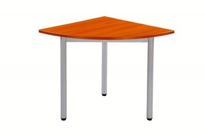 Table carelie 1 4 de rond 80 3 pieds plateau h tre for Table quart de rond