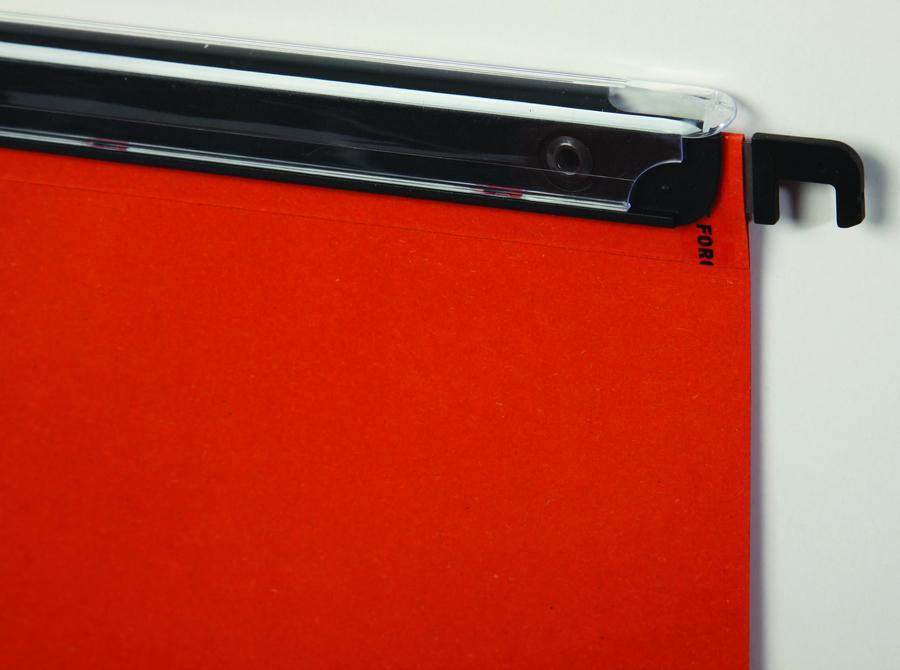 dossier suspendu pour tiroir kraft 240 g porte tiquette visioplus 240 g fond 15 mm orange. Black Bedroom Furniture Sets. Home Design Ideas