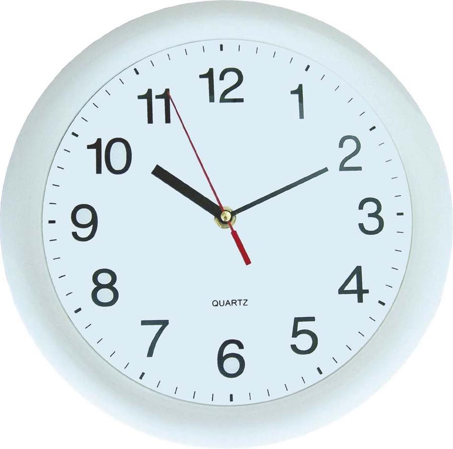 horloge classique ronde blanche diam tre 30 cm. Black Bedroom Furniture Sets. Home Design Ideas