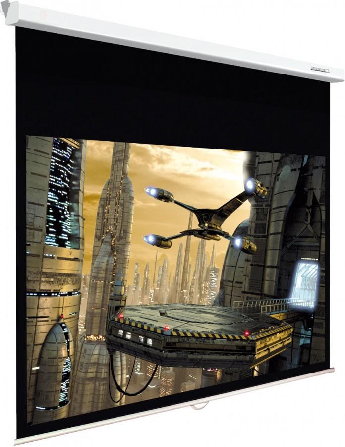 Ecran de projection mural manuel 16 9 me lumene plazza 2 for Ecran de projection mural manuel