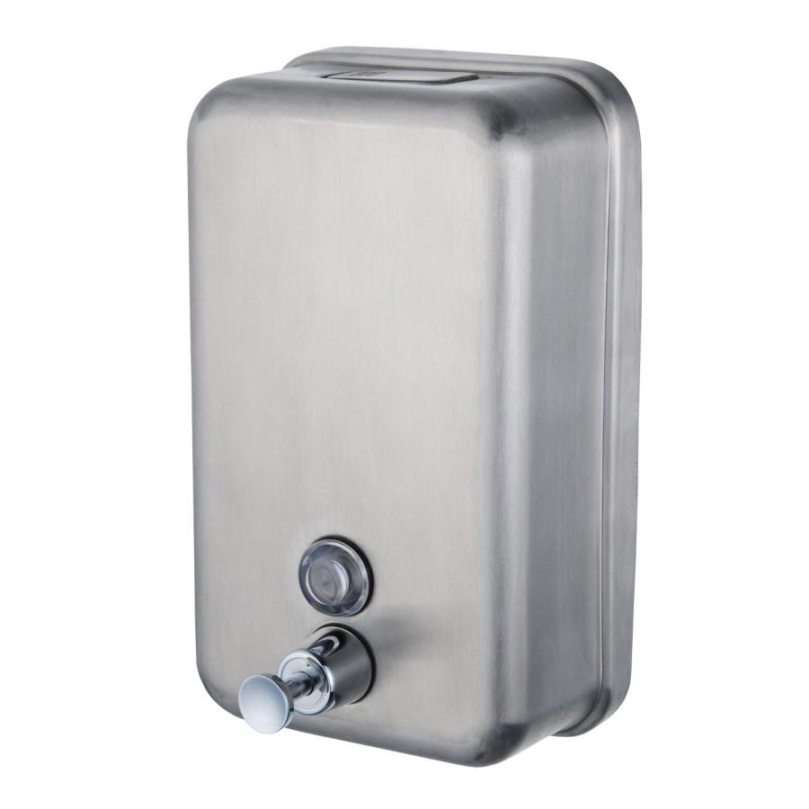 achat public distributeur de savon  litre a bouton poussoir inox sn