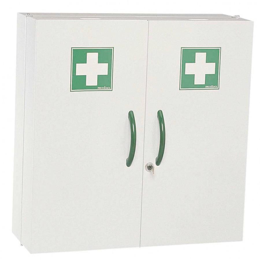 armoire pharmacie acier poxy blanc 2 portes pleines. Black Bedroom Furniture Sets. Home Design Ideas