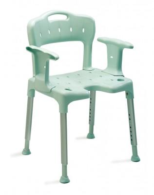 chaise de douche swift avec accoudoirs verte. Black Bedroom Furniture Sets. Home Design Ideas