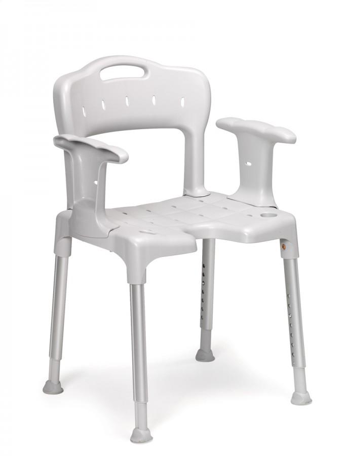 chaise de douche swift avec accoudoirs grise. Black Bedroom Furniture Sets. Home Design Ideas