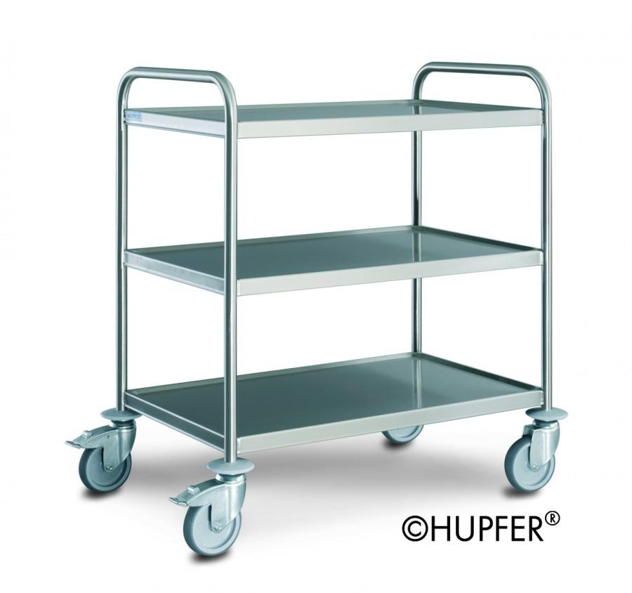 chariot de service inox 3 plateaux 60 x 40 cm. Black Bedroom Furniture Sets. Home Design Ideas