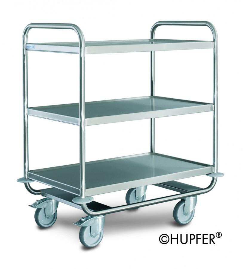 chariot de service renforc inox 3 plateaux 100 x 60 cm. Black Bedroom Furniture Sets. Home Design Ideas