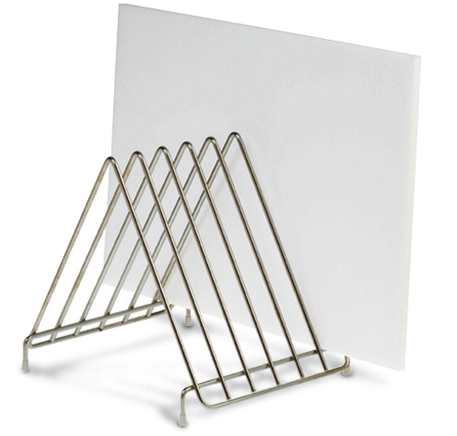 Support gouttoir pour planche d couper inox for Planche inox cuisine