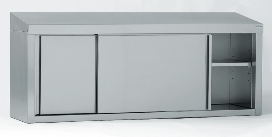 Armoire suspendue inox 2 portes coulissantes 1 for Porte coulissante 60 x 96
