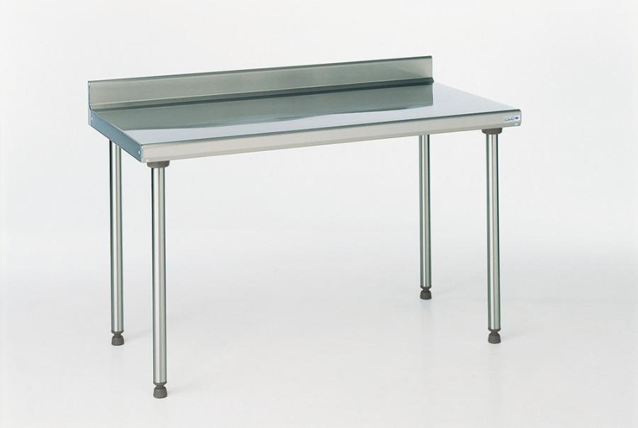Table de pr paration inox avec dosseret l 160cm for Plan travail inox alimentaire