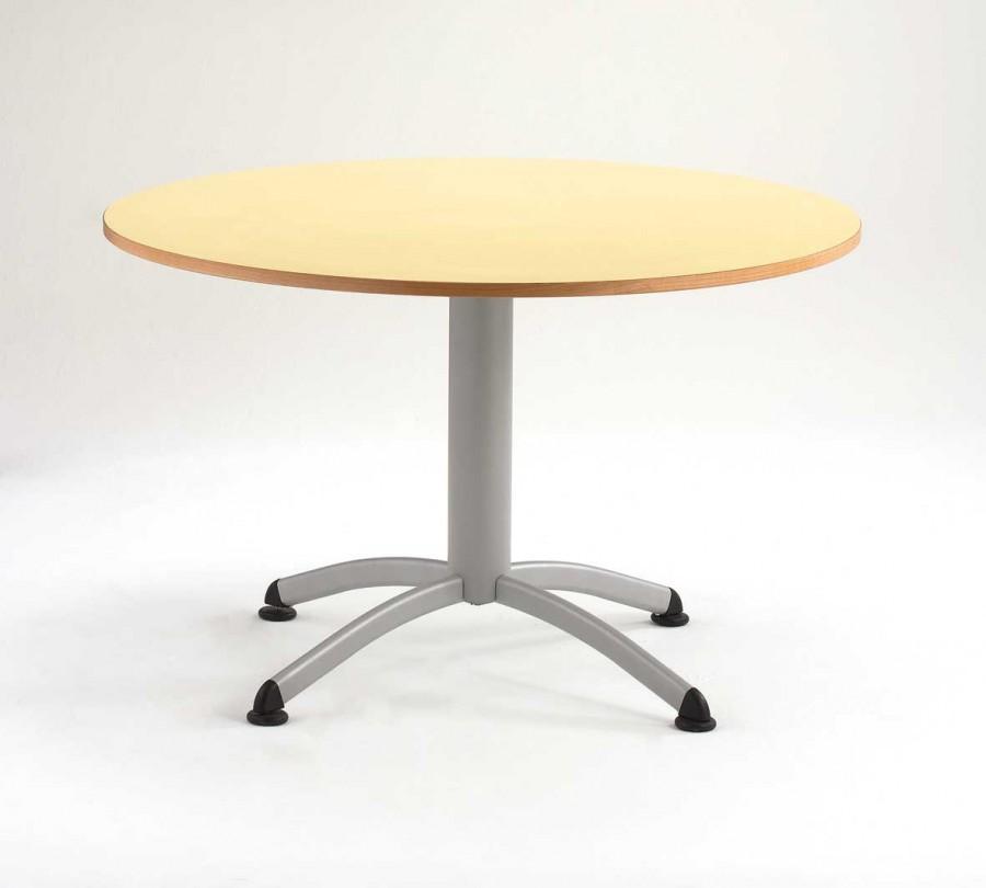 table ronde zen pi tement central chant alais 120 cm
