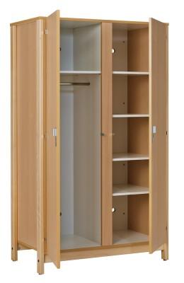 armoire 2 portes nyxos 1 porte penderie et 1 ling re structure h tre verni naturel. Black Bedroom Furniture Sets. Home Design Ideas