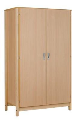 Armoire 2 portes nyxos tout penderie structure h tre verni naturel - Structure armoire penderie ...
