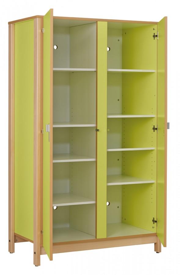 armoire 2 portes nyxos tout ling re structure h tre verni naturel. Black Bedroom Furniture Sets. Home Design Ideas