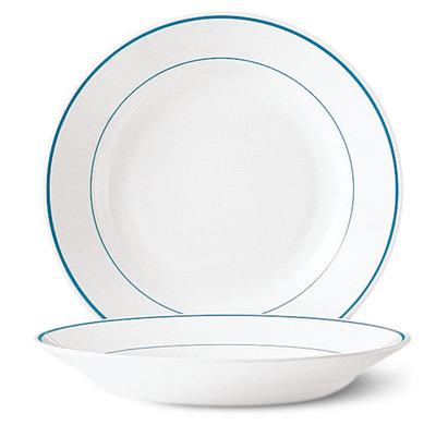 Assiette creuse restaurant filet bleu 22 5 cm verre for Verre restaurant professionnelle