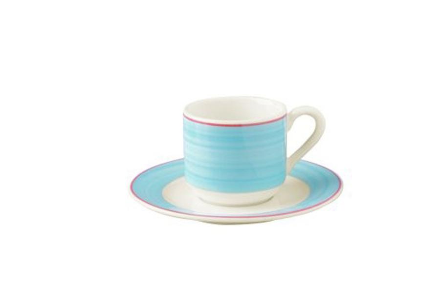 tasse d jeuner bahamas bleu 23 cl porcelaine lot de 12. Black Bedroom Furniture Sets. Home Design Ideas