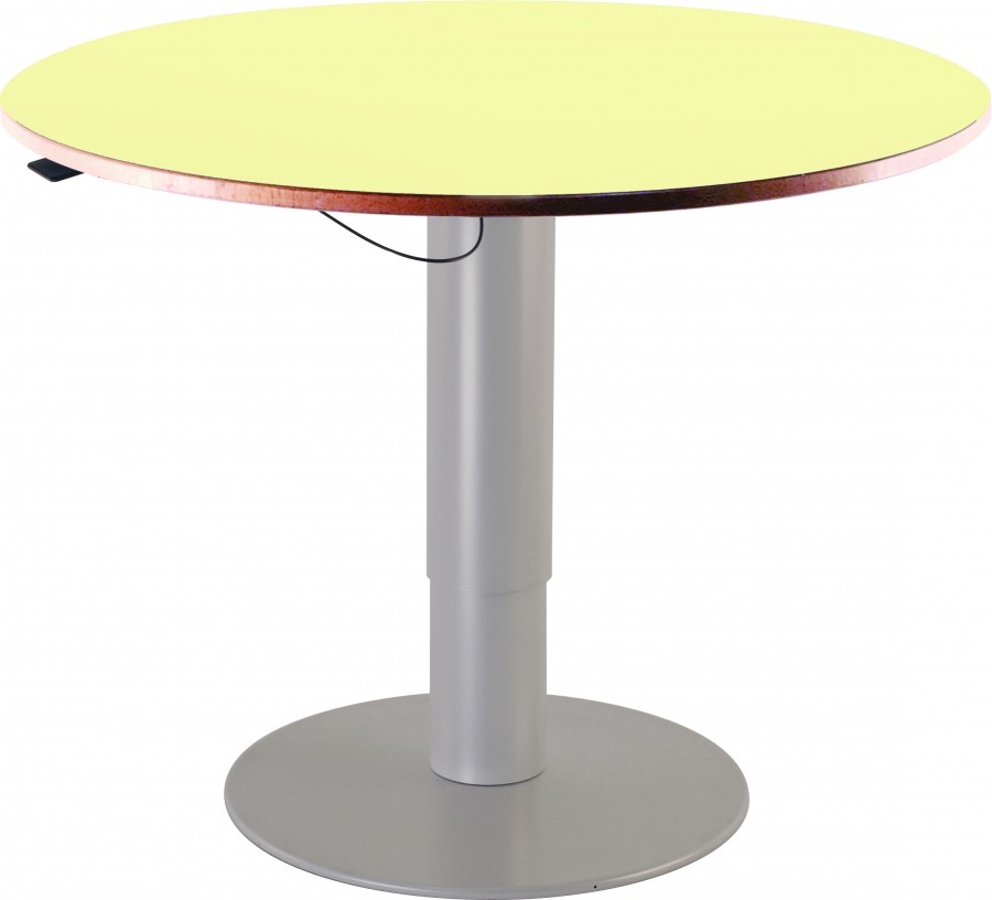 Table ronde zen pi tement central chant alais Table d appoint reglable en hauteur