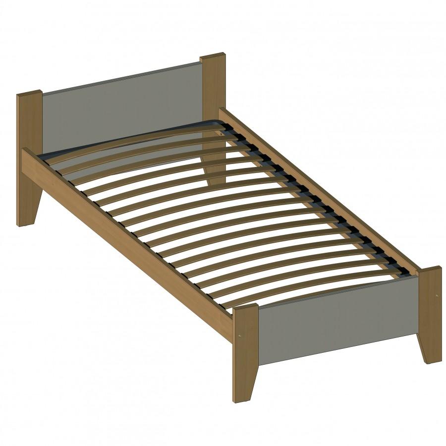 lit 90 x 190 cm vauban sommier lattes souples. Black Bedroom Furniture Sets. Home Design Ideas