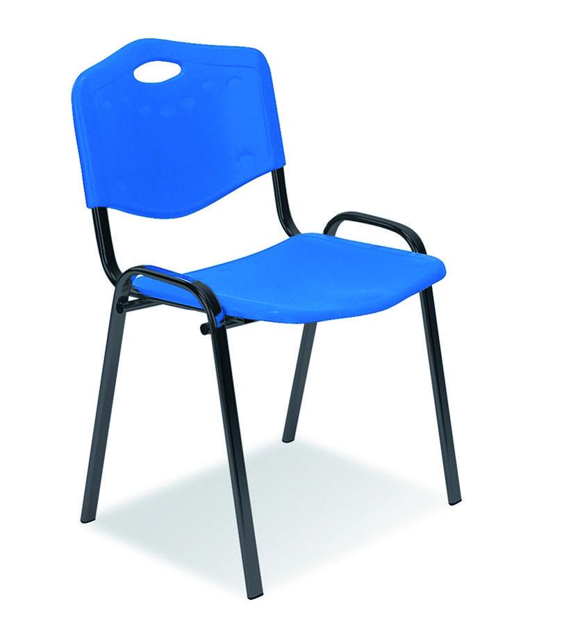 Chaise visiteur 4 pieds saturn plastique par 2 for Chaise 2 pieds