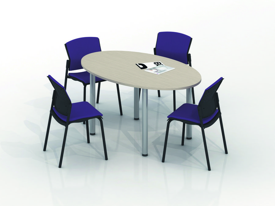 table de r union ovale 6 places vital plus 4 pieds. Black Bedroom Furniture Sets. Home Design Ideas