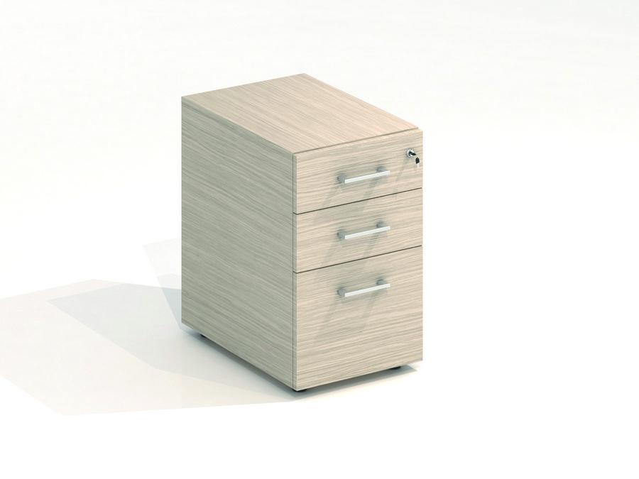 Caisson hauteur bureau m lamin vital plus 2 tiroirs plats 1 tiroir dossiers suspendus - Caisson 2 tiroirs dossiers suspendus ...