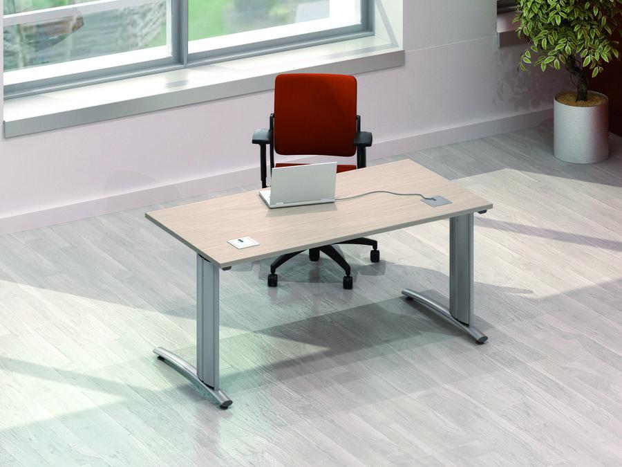 bureau droit vital plus 180x80. Black Bedroom Furniture Sets. Home Design Ideas