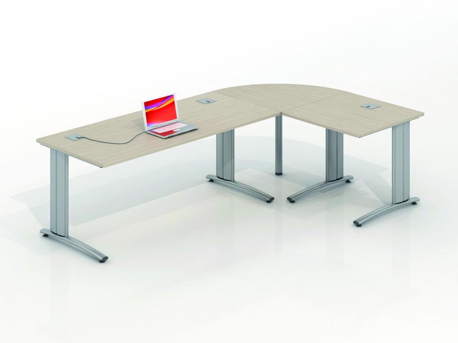 bureau droit vital plus 180x80 angle 90 retour 80x80. Black Bedroom Furniture Sets. Home Design Ideas