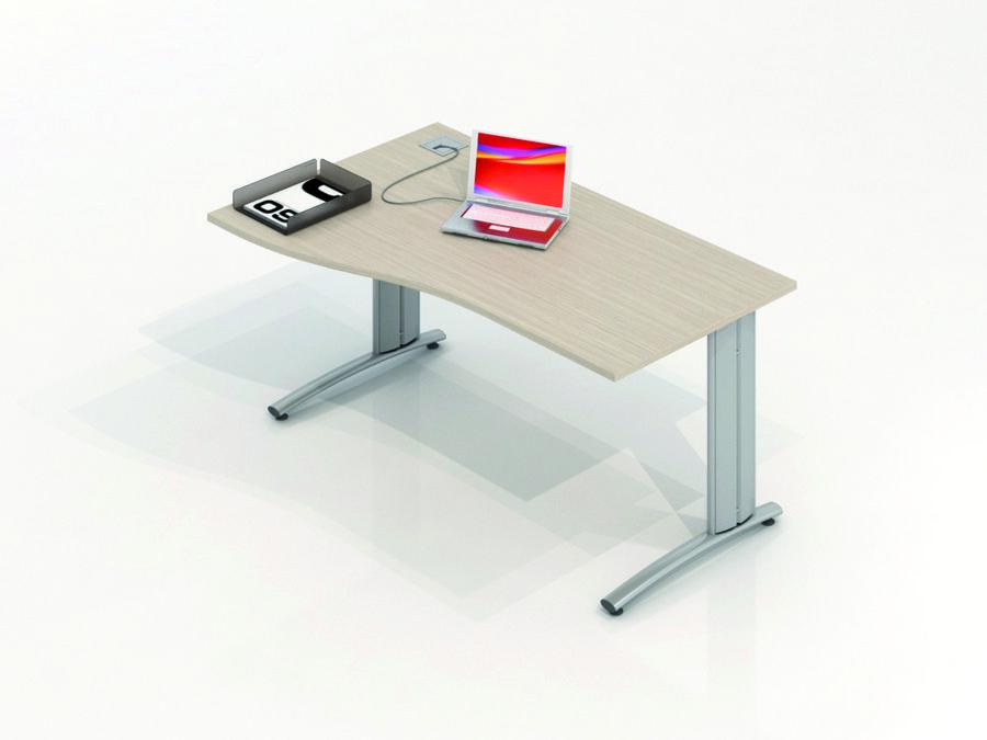 bureau vague asym trique vital plus 160x100x80. Black Bedroom Furniture Sets. Home Design Ideas