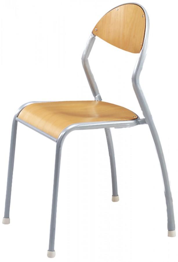 chaise rond 39 o antibruit t5 pi tement gris alu lot de 4. Black Bedroom Furniture Sets. Home Design Ideas