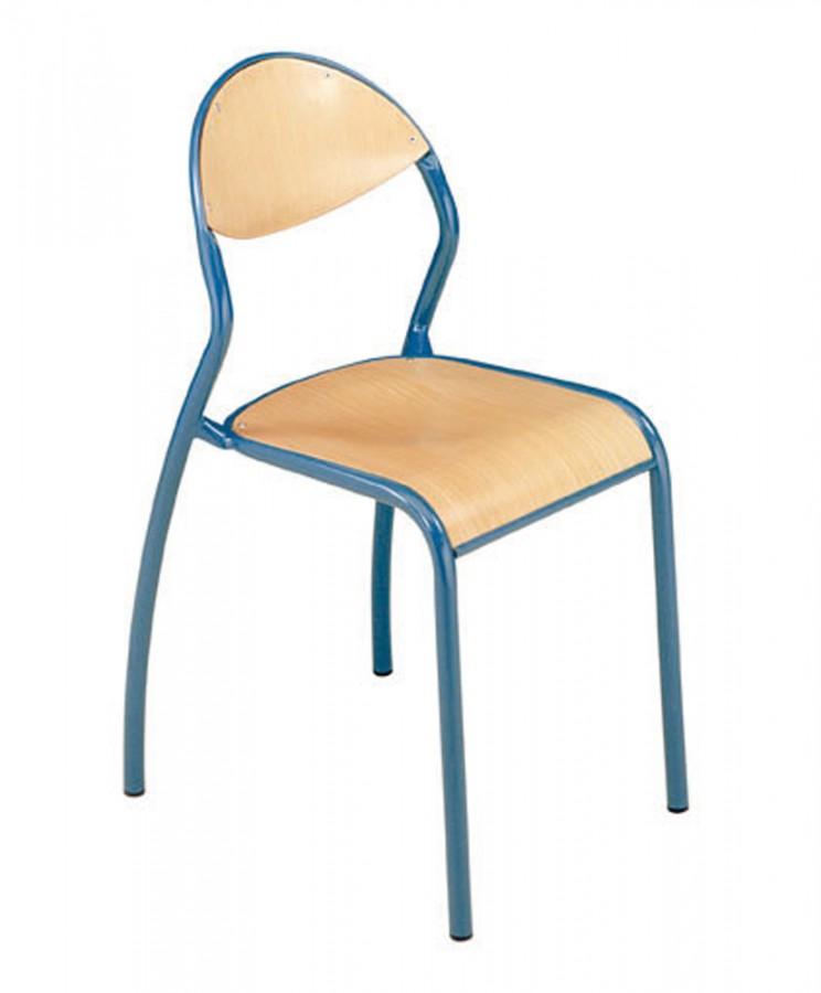 chaise rond 39 o taille 6 pi tement bleu ouessant lot de 4. Black Bedroom Furniture Sets. Home Design Ideas