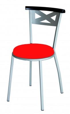 chaise 4 pieds yun assise rembourr e et dossier bois pi tement acier. Black Bedroom Furniture Sets. Home Design Ideas