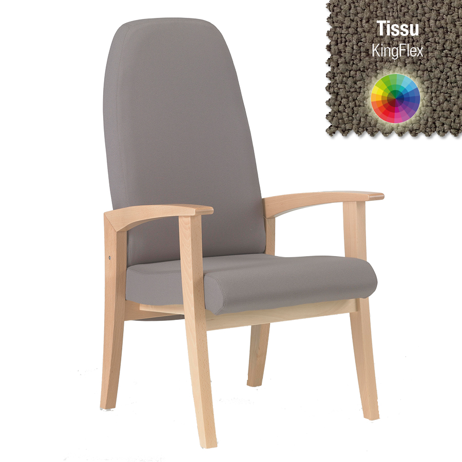 fauteuil de repos wallace structure h tre naturel tissu. Black Bedroom Furniture Sets. Home Design Ideas