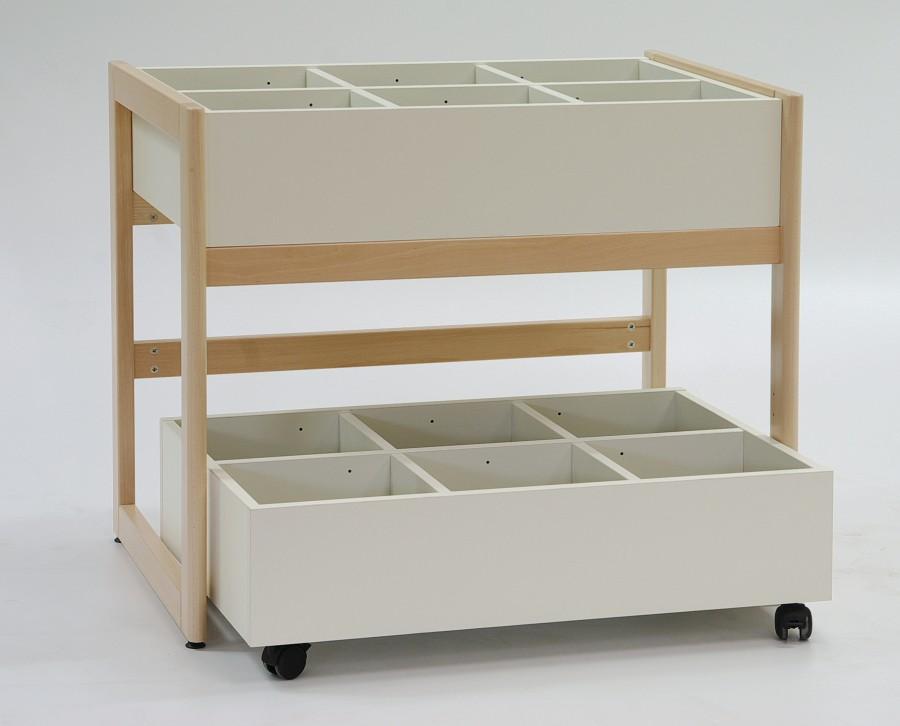 bac bd chambord ng sur roulettes bords plats standards. Black Bedroom Furniture Sets. Home Design Ideas