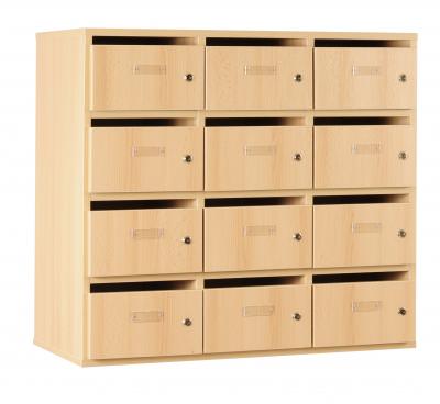 Meuble bip bop courrier 12 cases cl aulne for Courrier du meuble