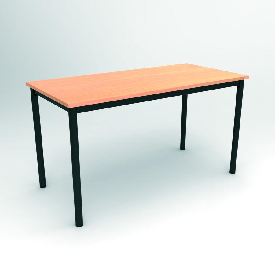 Table d 39 atelier 120 x 80 cm hauteur 100 cm plateau - Pied de table telescopique reglable 80 120 cm ...